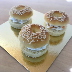 Mini bagel saumon